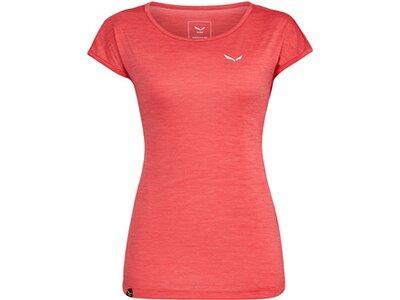 """SALEWA Damen T-Shirt """"Puez Melange Dryton"""" Rot"""