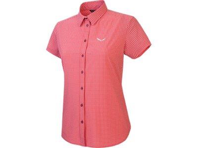 SALEWA Herren Hemd Puez Mini Check Dry W S/s Srt Pink
