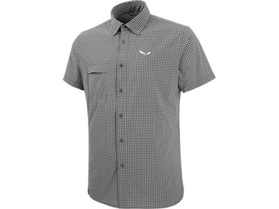 SALEWA Herren Shirt Puez Mini Check Dry M S/s Srt Grau
