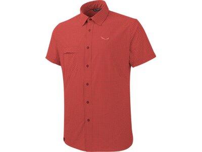 SALEWA Herren Shirt Puez Mini Check Dry M S/s Srt Rot