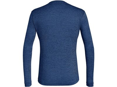SALEWA Herren Shirt PUEZ MELANGE DRY M L/S TEE Blau