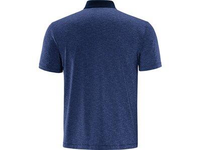 schneider sportswear Herren Trainings-Polo Blau
