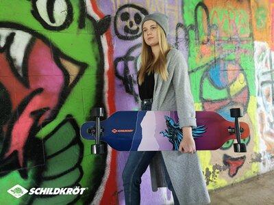SCHILDKRÖT Skateboard Longboard 41´ GodFeather Bunt