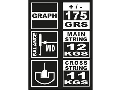 UNSQUASHABLE Squash-Schläger Y-TEC 805 Grau