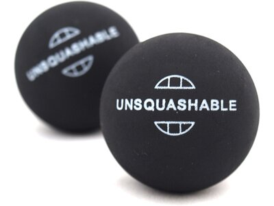 UNSQUASHABLE Squash-Ball UNSQUASHABLE 2xgelb Schwarz