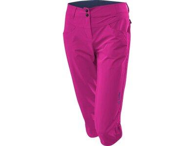 LÖFFLER Damen Trekking 3/4 Hose Csl Pink