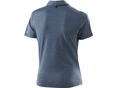 LÖFFLER Damen Poloshirt Merino Blau
