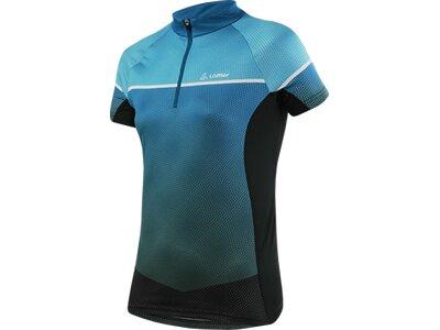 LÖFFLER Damen Bike Shirt Platy Hz Blau