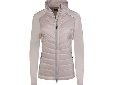 CANYON Damen Hybridjacke Fleece/Web Braun
