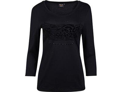 Damen T-Shirt 3/4 Arm Schwarz