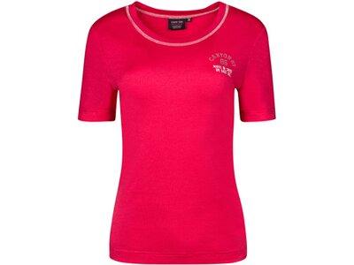 CANYON Damen Shirt T-Shirt 1/2 Arm Rot