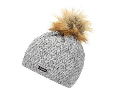 EISBÄR Damen Mütze Isabella Lux Crystal MÜ Grau