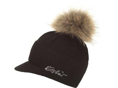 EISBÄR Damen Sura Fur Crystal Cap Schwarz