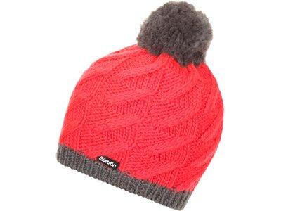 EISBÄR Damen Mütze Asteria Pompon MÜ Rot