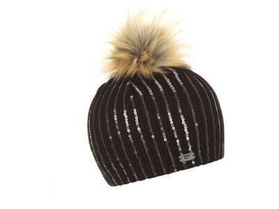 EISBÄR Damen Mütze Magalie Lux Schwarz