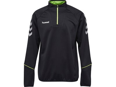 HUMMEL Herren Sweatshirt REFLECTOR1/4 ZIP SWEAT SP Schwarz