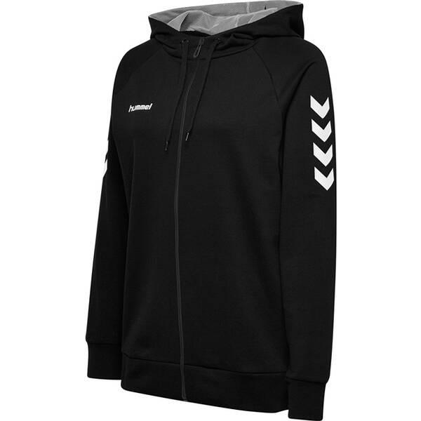 HUMMEL Damen Kapuzensweat HMLGO COTTON ZIP HOODIE | Bekleidung > Sweatshirts & -jacken > Zip-Hoodies | Black | Hummel
