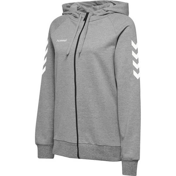 HUMMEL Damen Kapuzensweat HMLGO COTTON ZIP HOODIE | Bekleidung > Sweatshirts & -jacken > Zip-Hoodies | Hummel