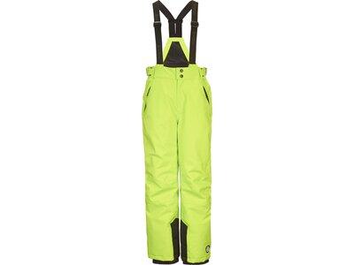 Killtec Mädchen Funktionshose mit abzippbarem Latz, Schneefang und Kantenschutz Grün