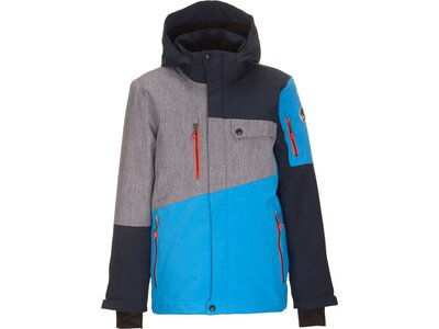 Killtec Jungs Funktionsjacke mit abzippbarer Kapuze und Schneefang Blau