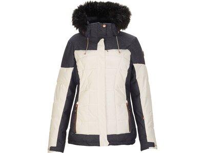 Killtec Damen Jacke in Daunenoptik mit abzippbarer Kapuze und Schneefang Grau