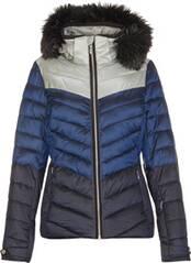 Killtec Damen Jacke in Daunenoptik mit abzippbarer Kapuze und Schneefang