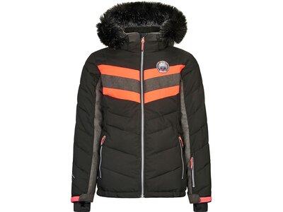 Killtec Mädchen Jacke in Daunenoptik mit abzippbarer Kapuze und Schneefang Schwarz