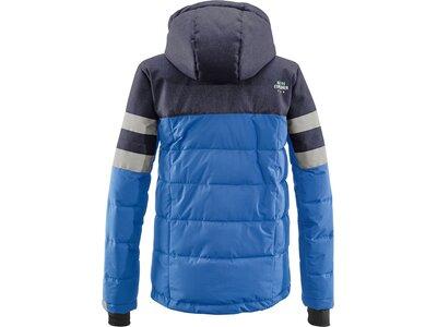 Killtec Kinder Jacke in Daunenoptik mit abzippbarer Kapuze und Schneefang Blau