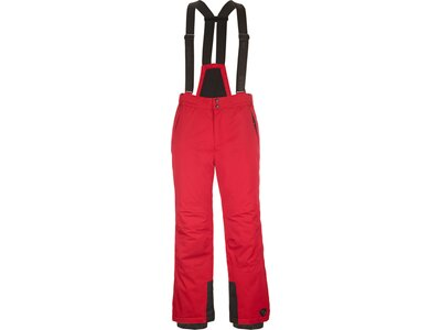 Killtec Funktionshose mit Trägern, Schneefang und Kantenschutz Rot