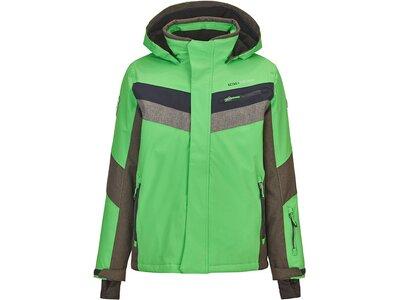 Killtec Jungs Funktionsjacke mit Kapuze und Schneefang Grün