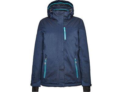 Killtec Damen Funktionsjacke mit abzippbarer Kapuze und Schneefang Blau