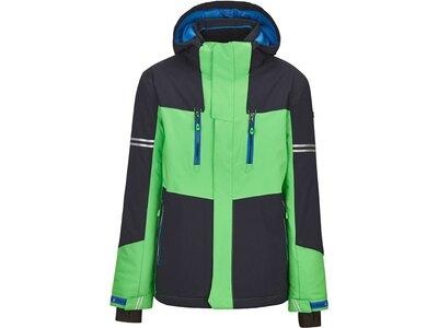 Killtec Jungs Funktionsjacke mit abzippbarer Kapuze und Schneefang Grün