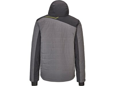 Killtec Hybridjacke mit abzippbarer Kapuze und Schneefang Grau