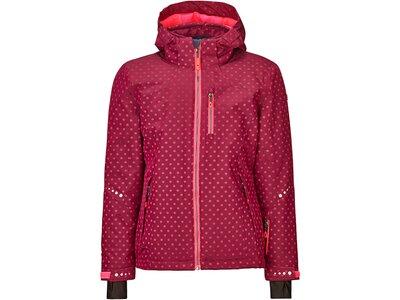 Killtec Mädchen Funktionsjacke mit Kapuze und Schneefang Rot
