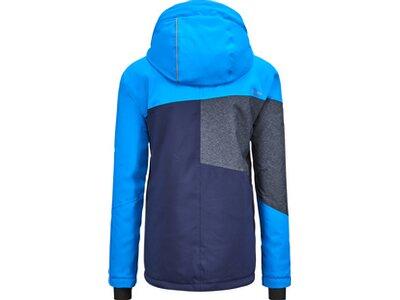 KILLTEC Kinder Funktionsjacke mit Kapuze und Schneefang Glenshee Blau