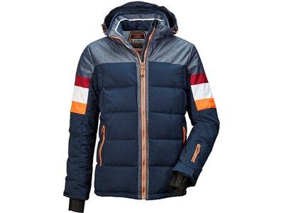 KILLTEC Herren Hybridjacke mit abzippbarer Kapuze und Schneefang Tirano Blau