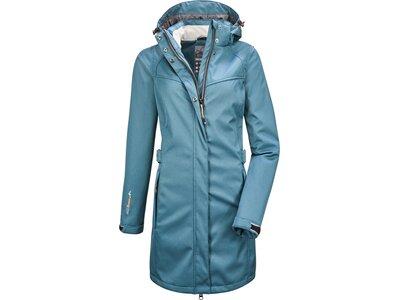 KILLTEC Damen Mantel NAErke Softshell Blau