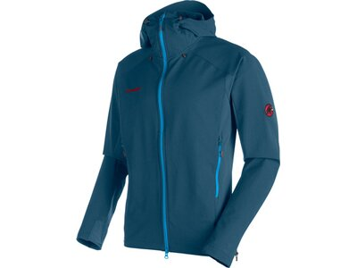 MAMMUT Herren Funktionsjacke Base Jump SO Hooded Blau