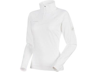 MAMMUT Damen Langarmshirt Snow ML Half Zip Pull Weiß