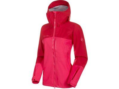 MAMMUT Damen Alpinjacke Masao HS Hooded Jacket Rot