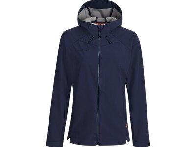 MAMMUT Damen Sapuen SO Hooded Jacket Women Blau