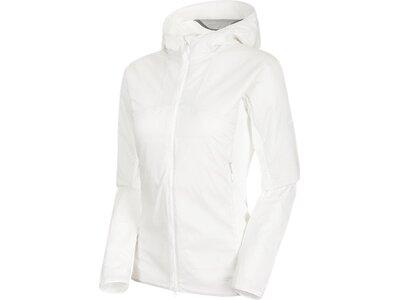 MAMMUT Damen Funktionsjacke Rime Light IN Flex Hooded Jacket Weiß