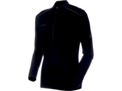 MAMMUT Herren T-Shirt Atacazo Light Zip Pull Schwarz