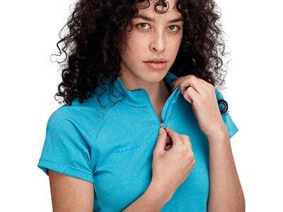 MAMMUT Damen Aegility Half Zip T-Shirt Women Blau