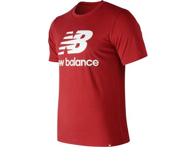 NEW BALANCE Herren T-Shirt ESSENTIALS STACKED LOGO T Rot