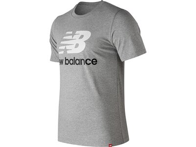 NEW BALANCE Herren T-Shirt ESSENTIALS STACKED LOGO T Grau