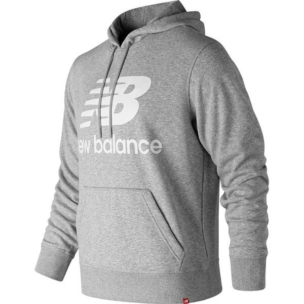 NEW BALANCE Herren Hoodie ESSENTIALS STACKED LOGO PO