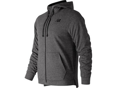NEW BALANCE Herren Jacke LIGHTWEIGHT NB WARM UP FZ HOODIE Grau