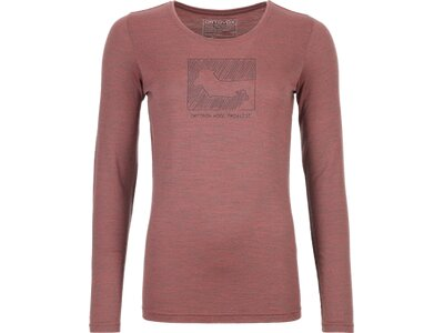 ORTOVOX Damen Unterhemd 185 MERINO CONTRAST LS Grau