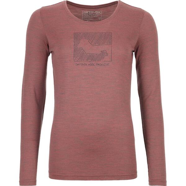 ORTOVOX Damen Unterhemd 185 MERINO CONTRAST LS